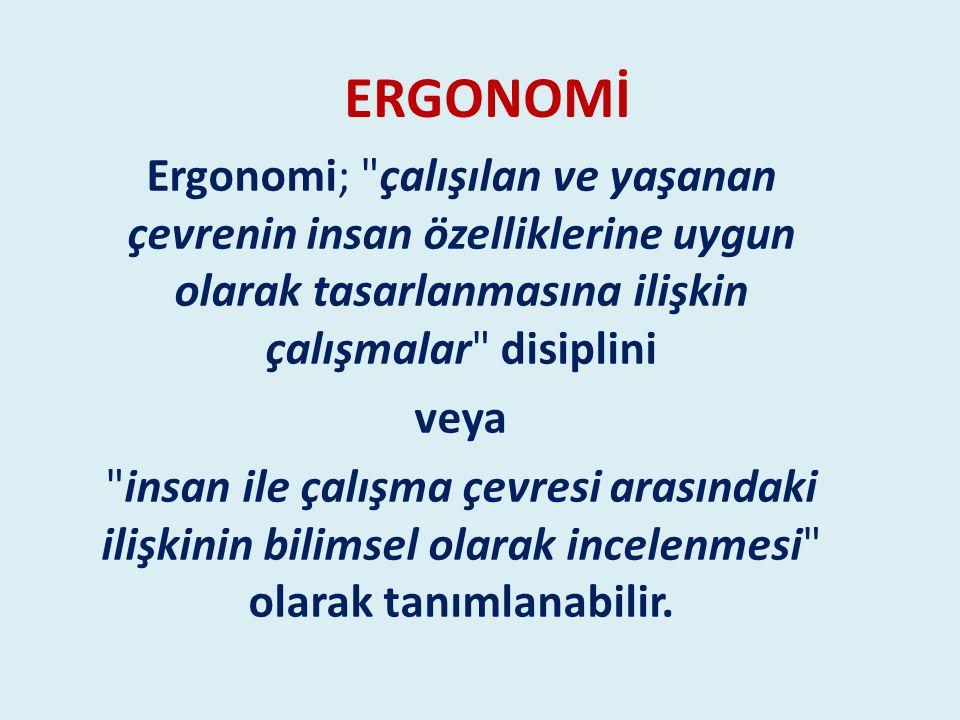 ERGONOMİ Ergonomi;