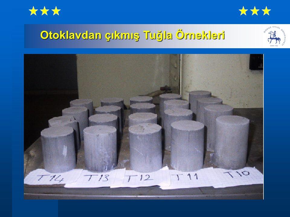 Otoklavdan çıkmış Tuğla Örnekleri