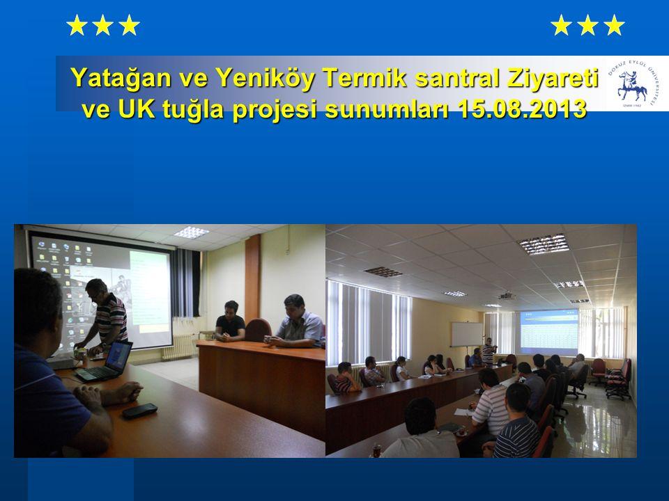 Yatağan ve Yeniköy Termik santral Ziyareti ve UK tuğla projesi sunumları 15.08.2013