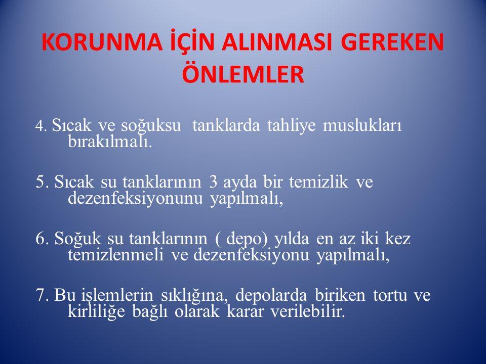 KORUNMA İÇİN ALINMASI GEREKEN ÖNLEMLER 8.