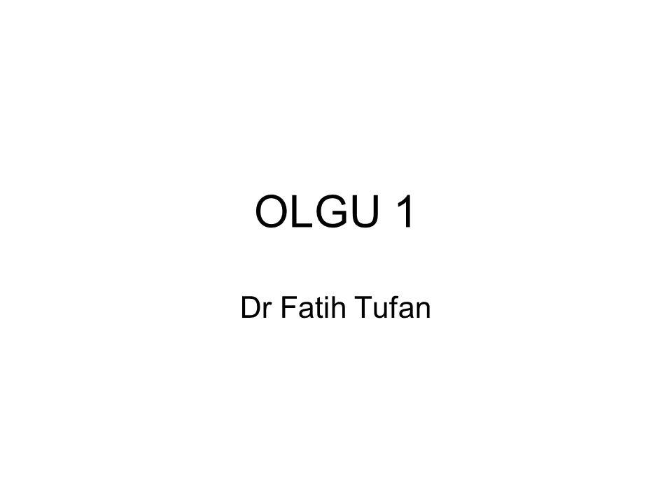 OLGU 1 Dr Fatih Tufan