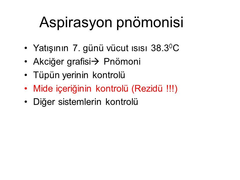 Aspirasyon pnömonisi Yatışının 7.