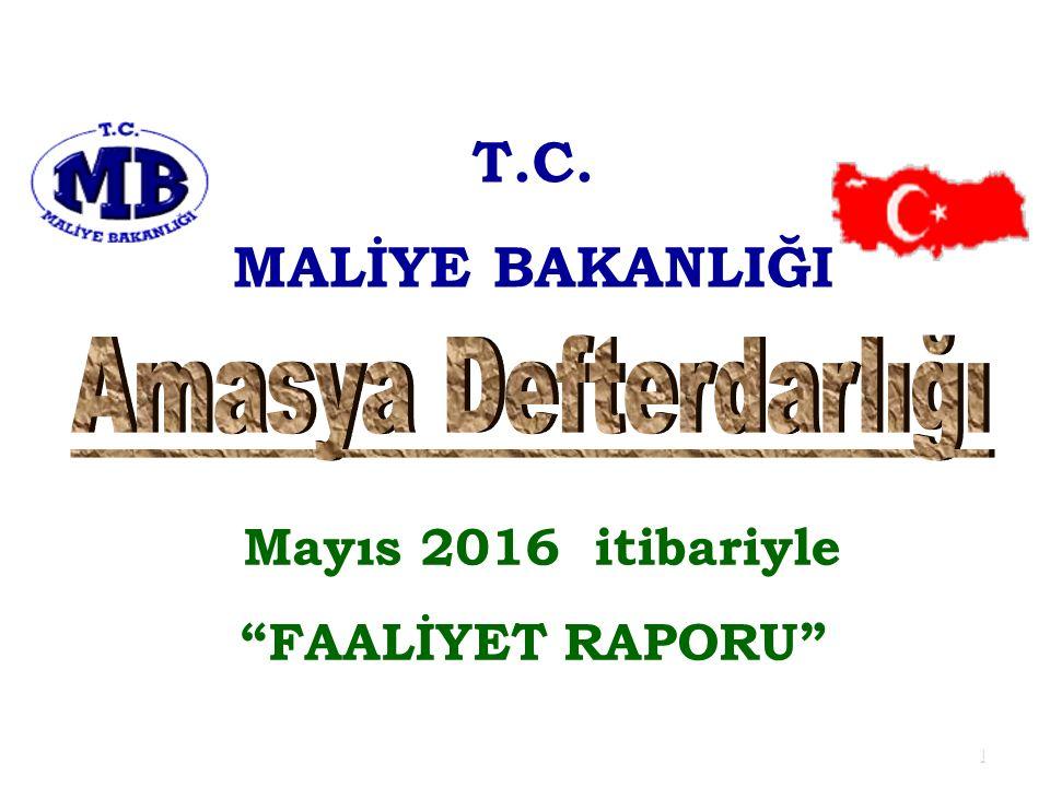 "1 T.C. MALİYE BAKANLIĞI Mayıs 2016 itibariyle ""FAALİYET RAPORU"""