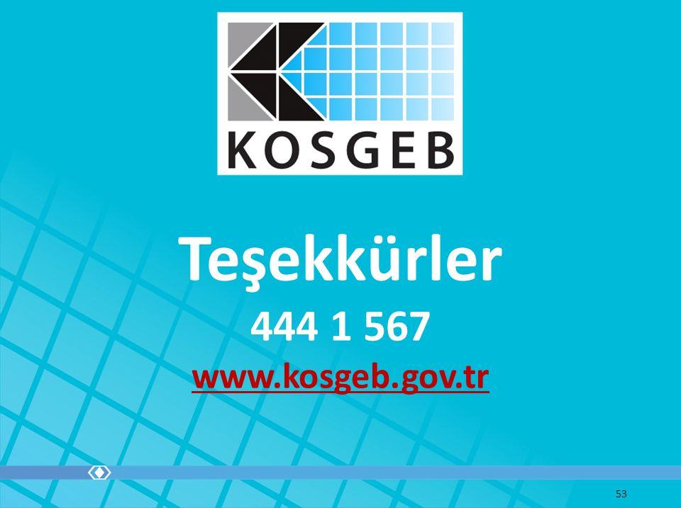 Teşekkürler 444 1 567 www.kosgeb.gov.tr 53