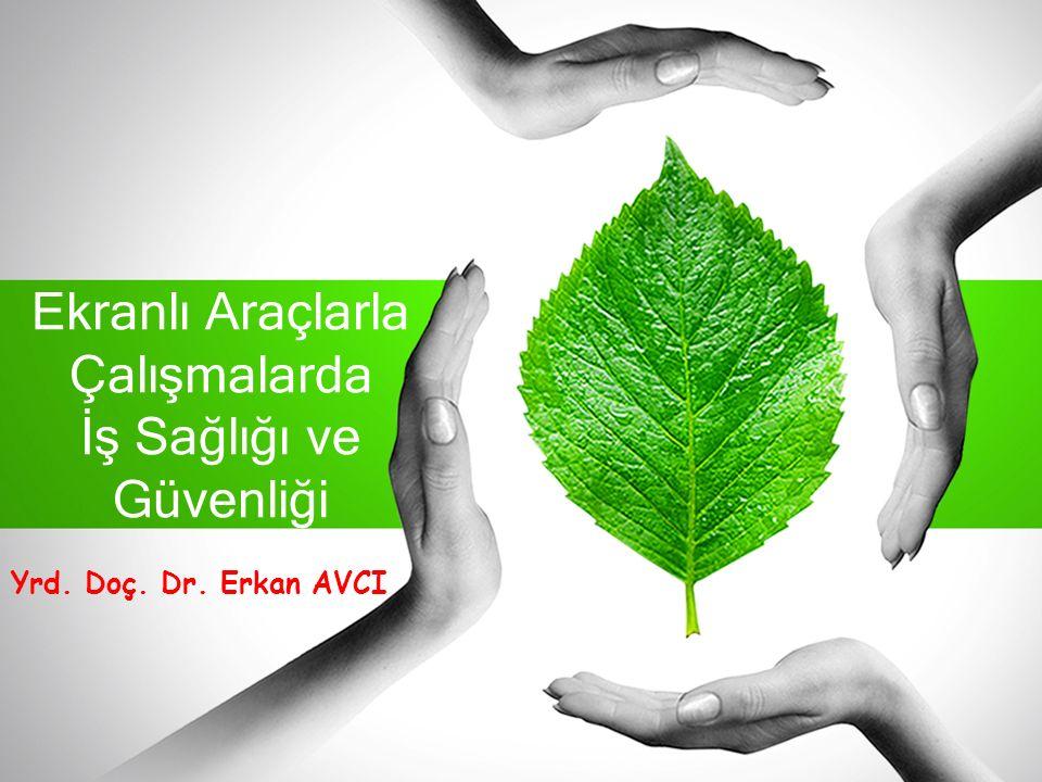 Ekranlı Araçlarla Çalışmalarda İş Sağlığı ve Güvenliği Yrd. Doç. Dr. Erkan AVCI