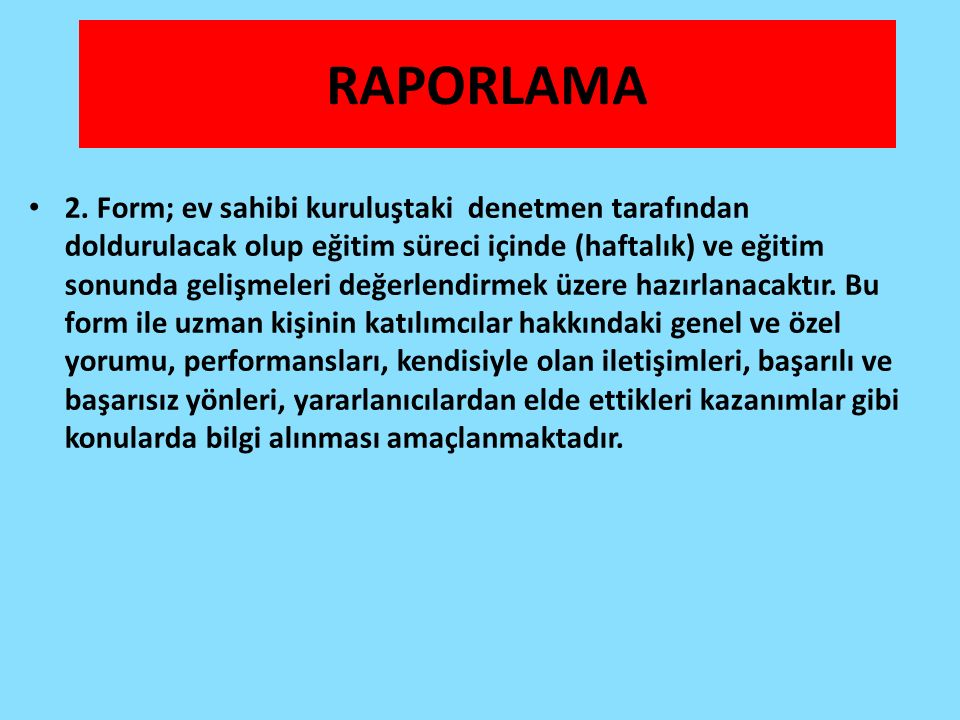 RAPORLAMA 2.