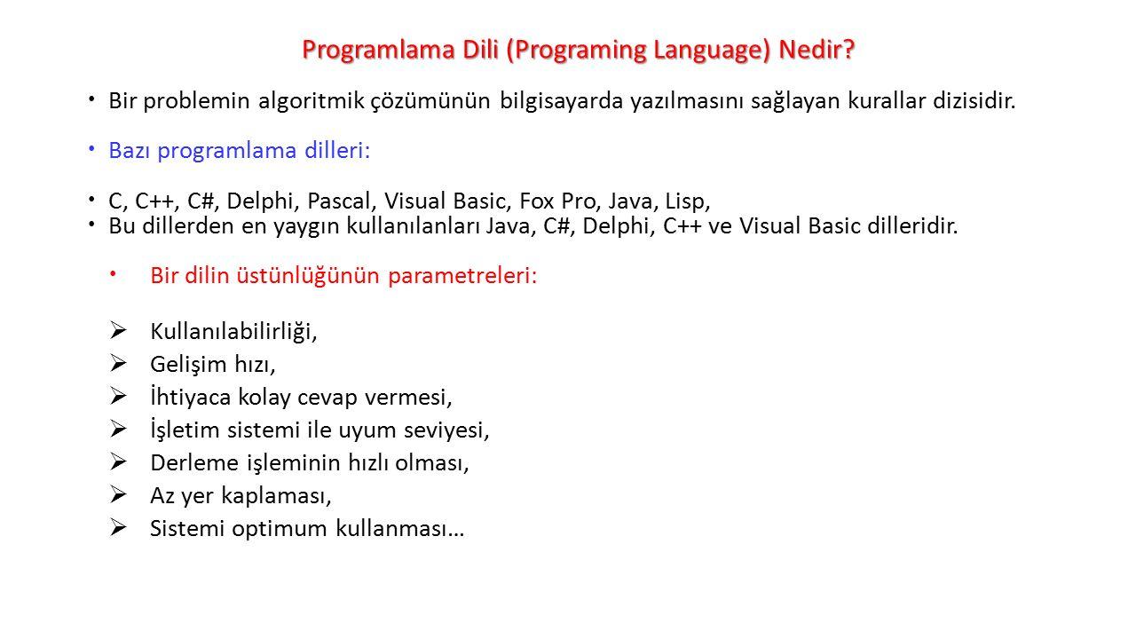 Programlama Dili (Programing Language) Nedir.