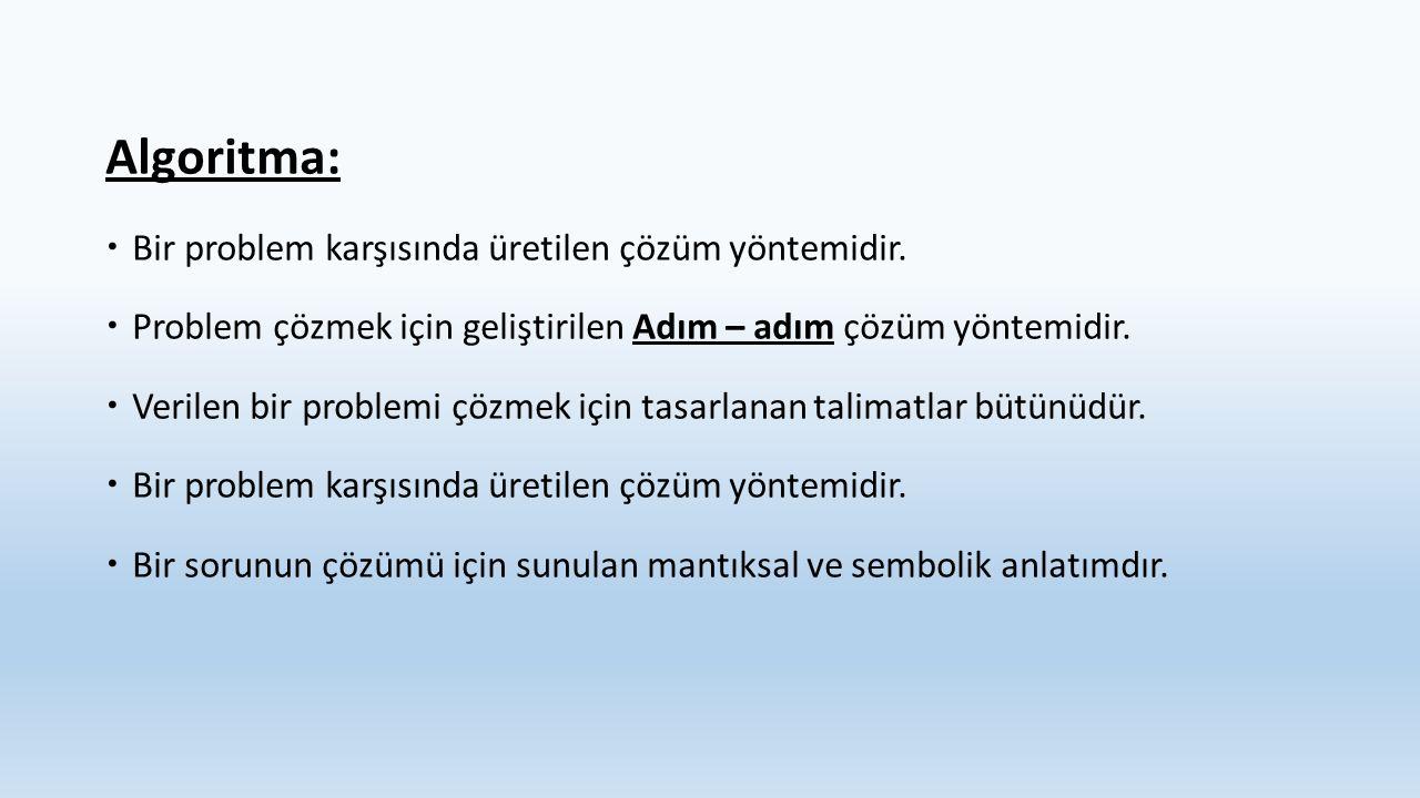 Aşağıda bazı problemler verilmiştir.Verilen bu problemler karşısında çözüm yöntemleriniz nelerdir.