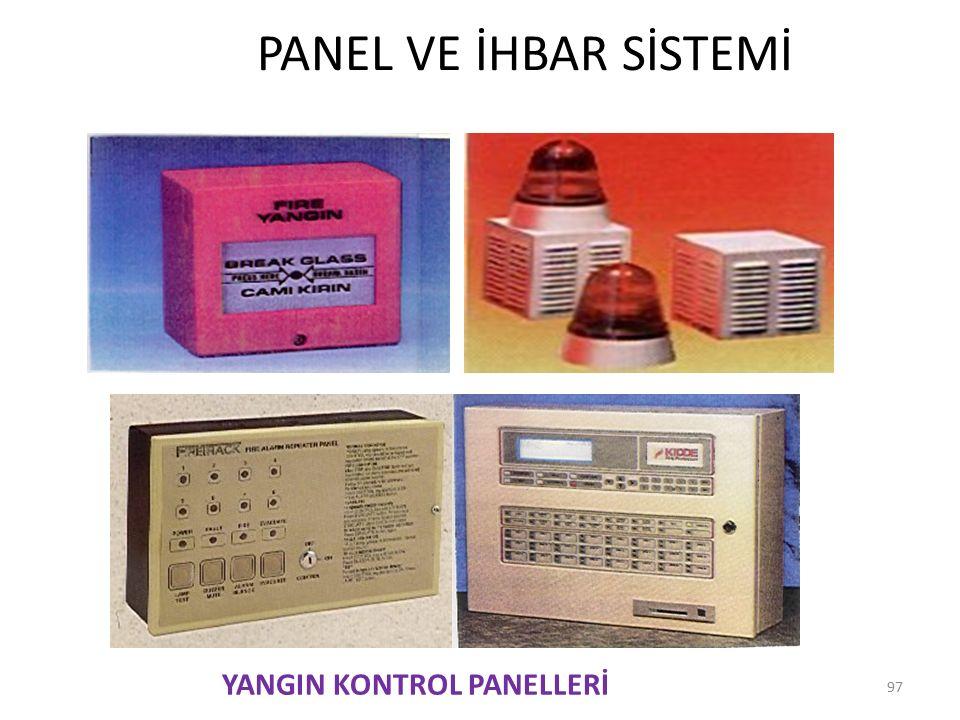 PANEL VE İHBAR SİSTEMİ 97 YANGIN KONTROL PANELLERİ