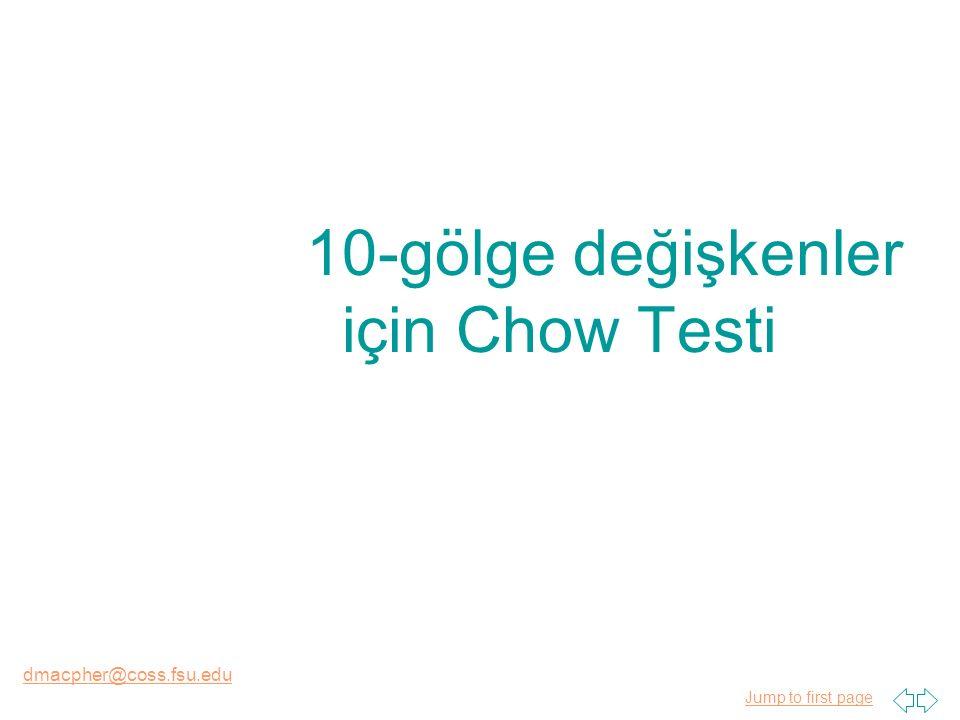 Jump to first page dmacpher@coss.fsu.edu 10-gölge değişkenler için Chow Testi