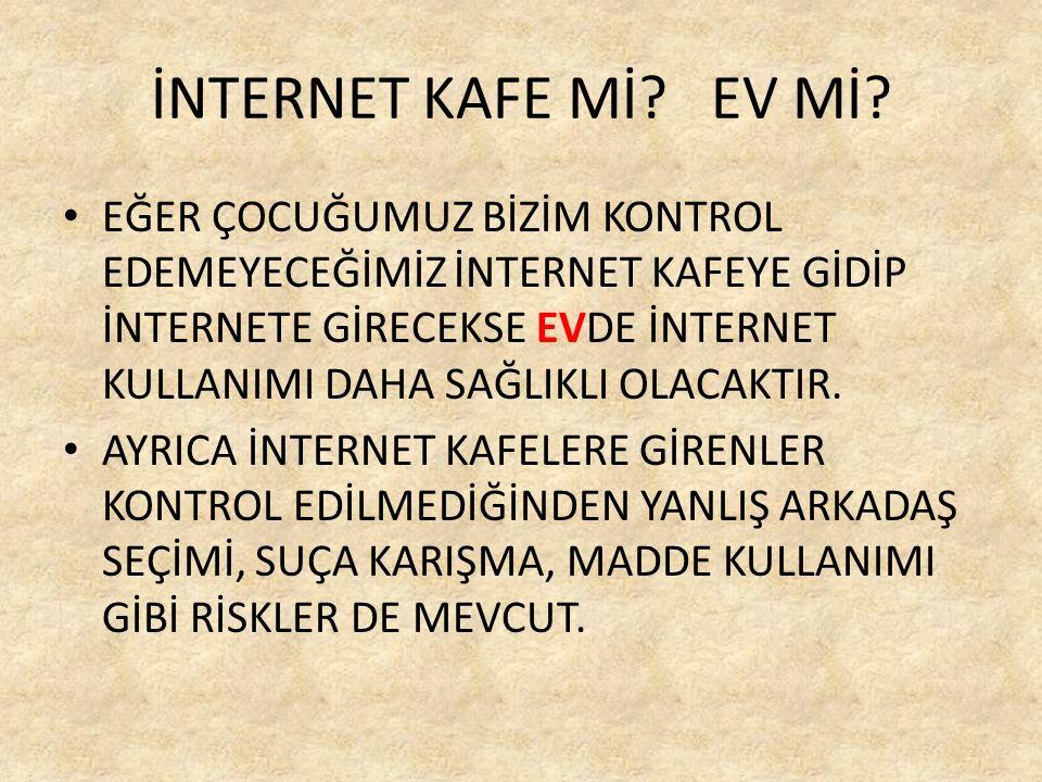 İNTERNET KAFE Mİ. EV Mİ.