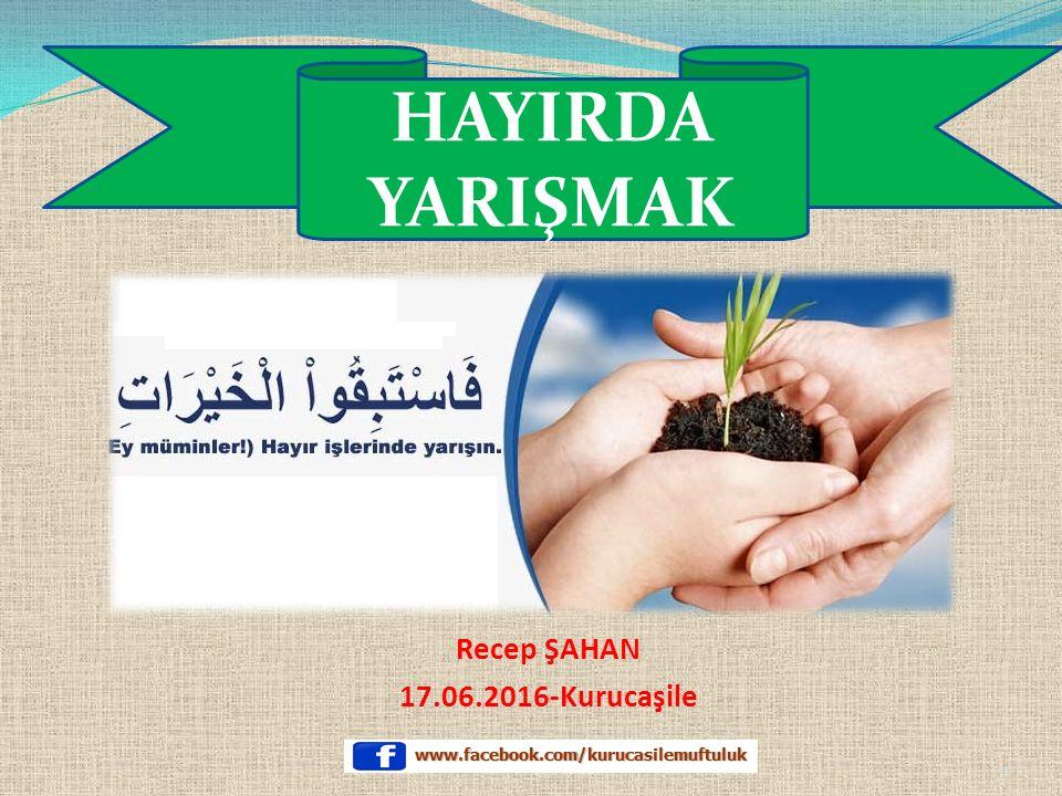Recep ŞAHAN 17.06.2016-Kurucaşile HAYIRDA YARIŞMAK 1