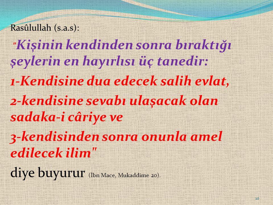 Rasûlullah (s.a.s):
