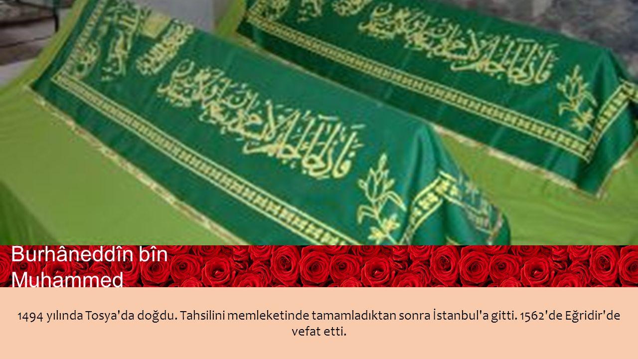 1494 yılında Tosya da doğdu. Tahsilini memleketinde tamamladıktan sonra İstanbul a gitti.