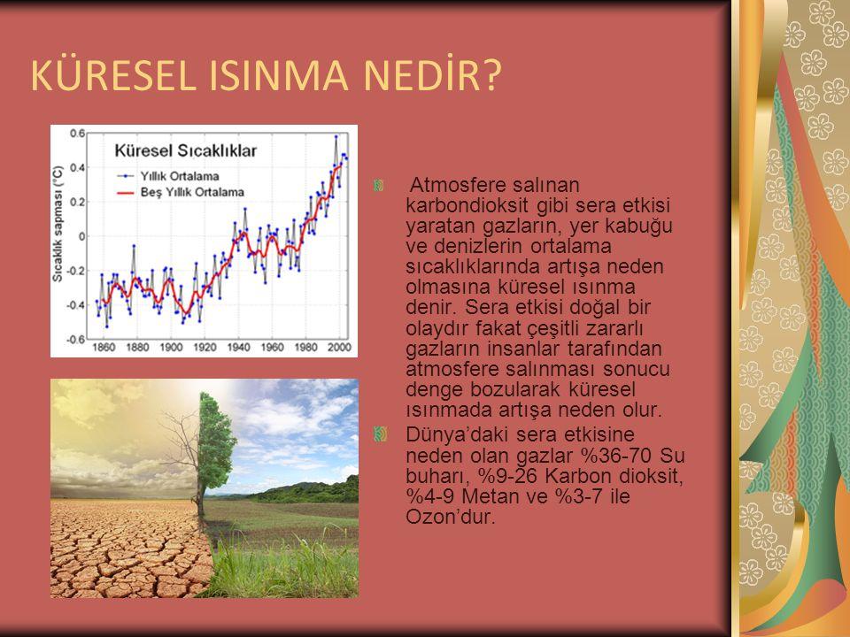 KÜRESEL ISINMANIN TARİHÇESİ Küresel ısınma 50 yıldır saptanabilir duruma gelmiş ve önem kazanmıştır.