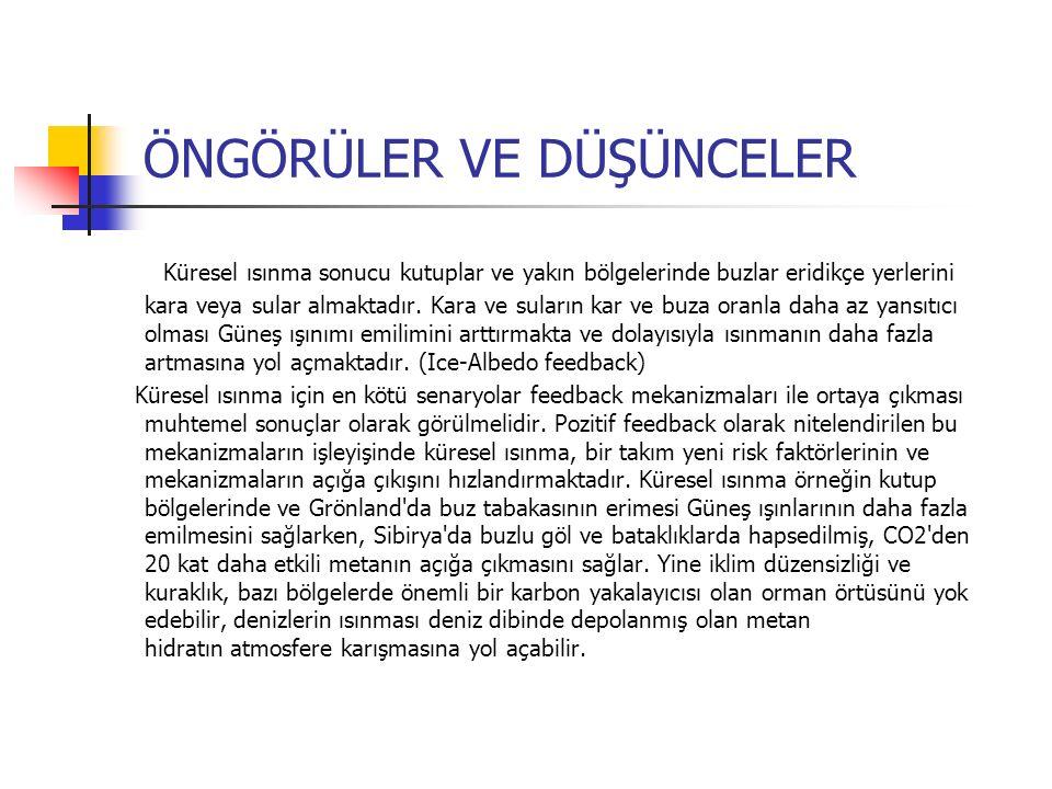 KÜRESEL ISINMANIN TÜRKİYE'YE ETKİLERİ NELERDİR.