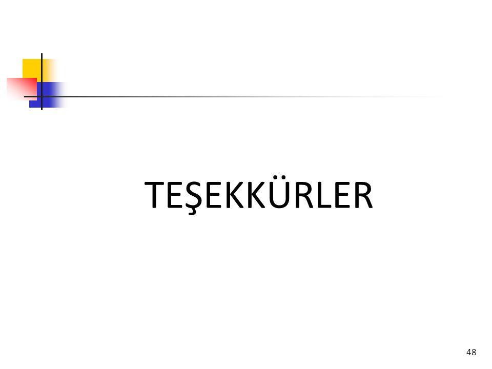 48 TEŞEKKÜRLER