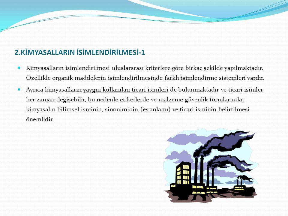 9.1.6.Tehlikeli Kimyasalların Depolanmasında Alınacak Önlemler-1 Kimyasal maddeler elleçlenirken, depolanırken maddelerin yapısal tehlikeleri nedeniyle son derece dikkatli olunmalı ve mevcut kurallara harfiyen uyulmalıdır.
