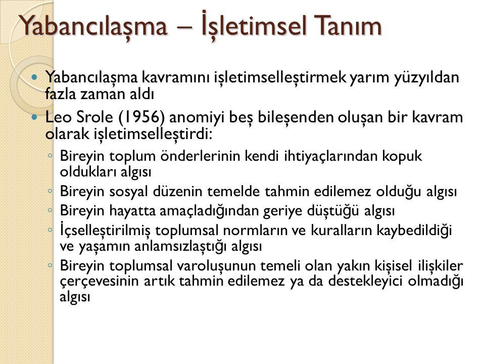 Türkiye'de yabancılaşma; Yabancılaşma kavramını Türkiye'de aydın- halk kopuklu ğ u ba ğ lamında ele alan ilk düşünür Ziya Gökalp'tır.