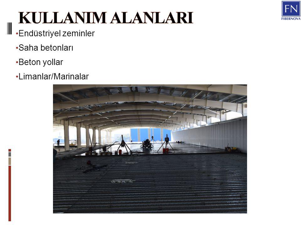 Endüstriyel zeminler Saha betonları Beton yollar Limanlar/Marinalar