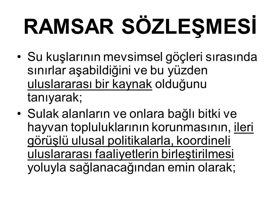 RAMSAR SÖZLEŞMESİ 1.