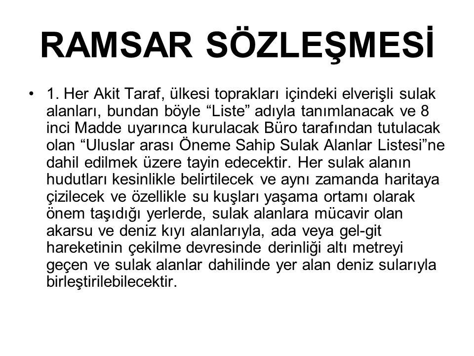 RAMSAR SÖZLEŞMESİ 2.