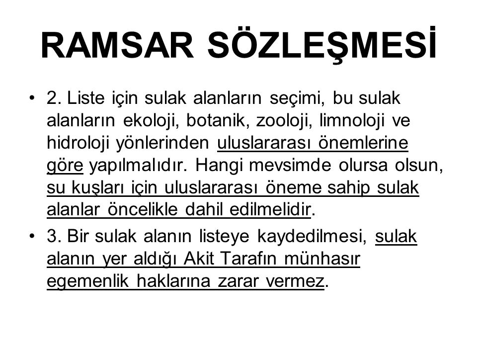 RAMSAR SÖZLEŞMESİ 4.