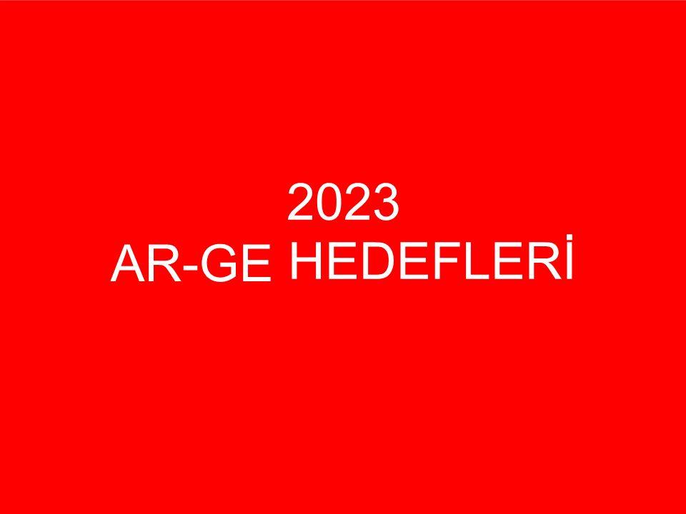 2023 HEDEFLERİ AR-GE