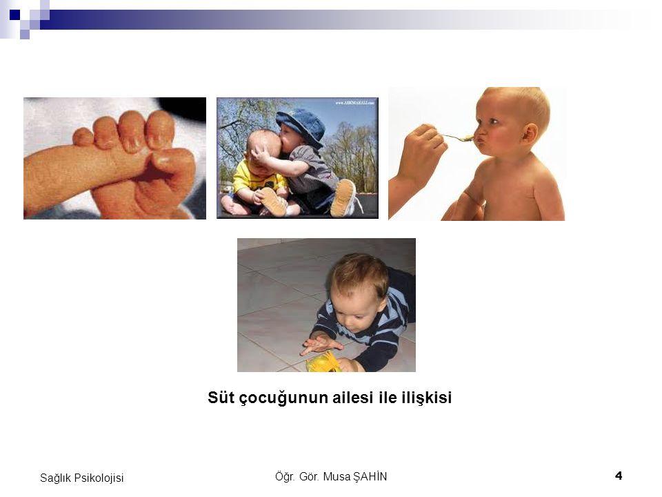 Öğr. Gör. Musa ŞAHİN 4 Sağlık Psikolojisi Süt çocuğunun ailesi ile ilişkisi