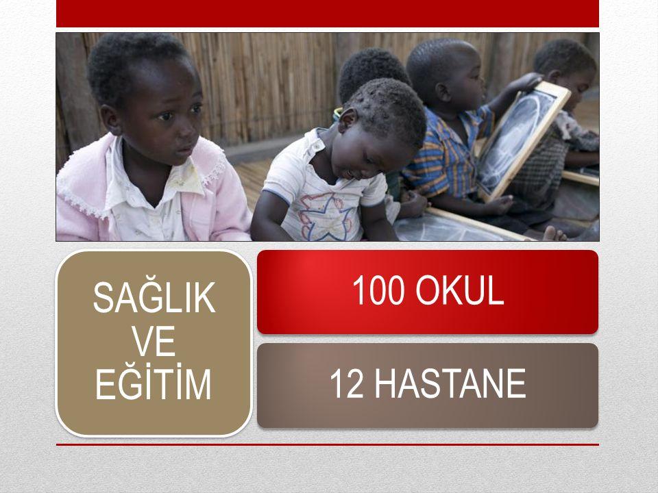 SAĞLIK VE EĞİTİM 100 OKUL12 HASTANE