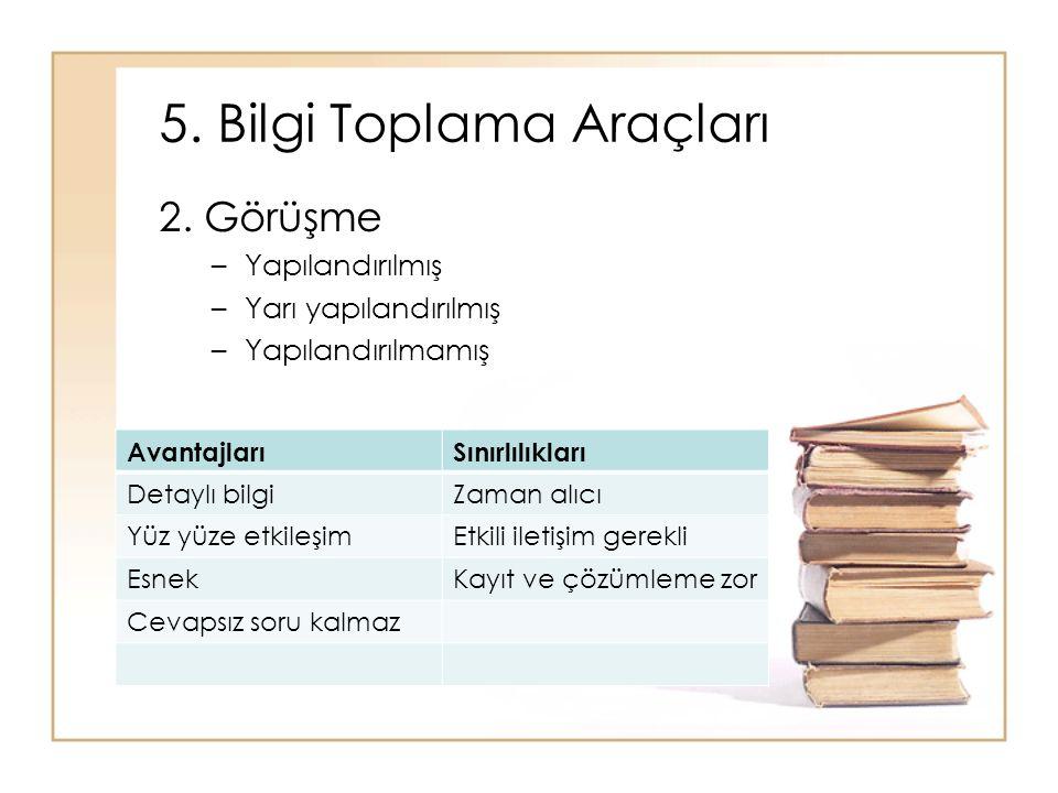 5. Bilgi Toplama Araçları 2.