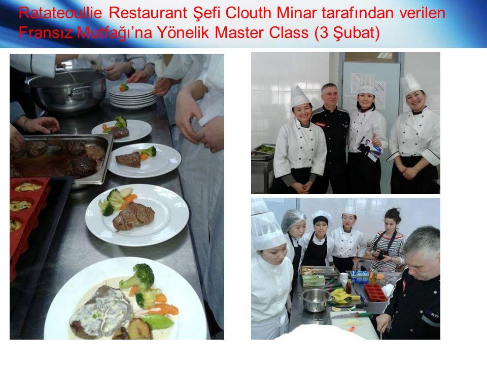 Ratateoullie Restaurant Şefi Clouth Minar tarafından verilen Fransız Mutfağı'na Yönelik Master Class (3 Şubat)