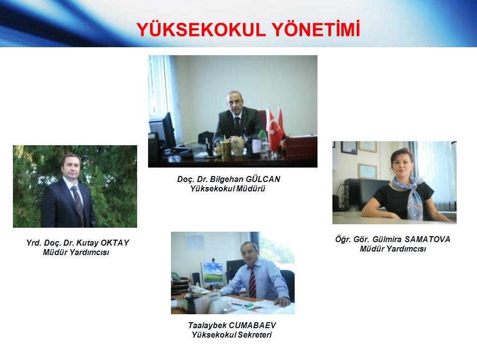 YÜKSEKOKUL YÖNETİMİ Doç. Dr. Bilgehan GÜLCAN Yüksekokul Müdürü Yrd.