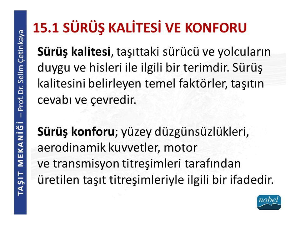15.2 TİTREŞİM KARAKTERİSTİKLERİ Genel olarak; 5...