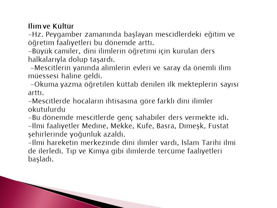 İlim ve Kültür -Hz.