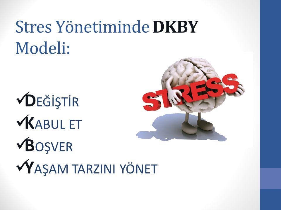 Stres Yönetiminde DKBY Modeli: D EĞİŞTİR K ABUL ET B OŞVER Y AŞAM TARZINI YÖNET