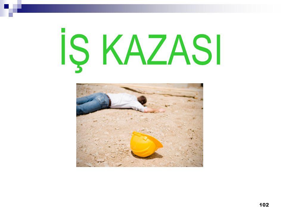 102 İŞ KAZASI