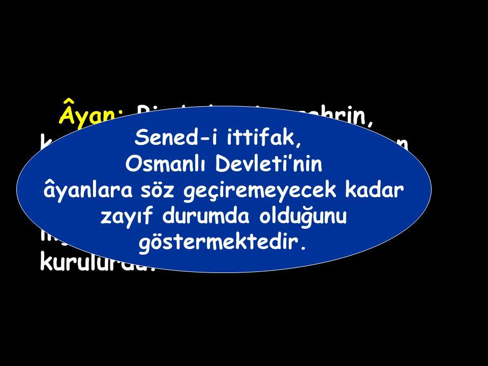 Âyanlar merkezi dinlemiyor ve kendi başlarına hareket ediyorlardı. Alemdar Mustafa Paşa âyanları İstanbul'da bir konferansa davet etti. Toplantı sıras