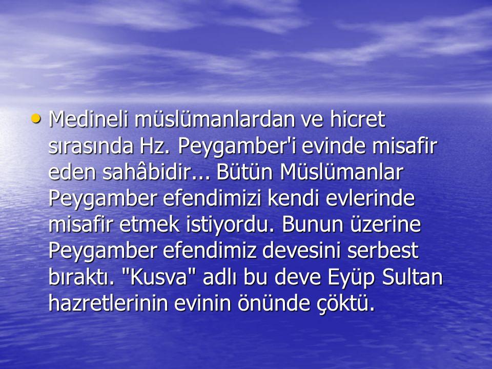 Medineli müslümanlardan ve hicret sırasında Hz. Peygamber i evinde misafir eden sahâbidir...