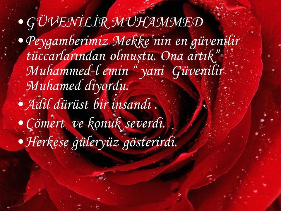 """www.hazirslayt.com GÜVENİLİR MUHAMMED Peygamberimiz Mekke'nin en güvenilir tüccarlarından olmuştu. Ona artık"""" Muhammed-l emin """" yani Güvenilir Muhamed"""