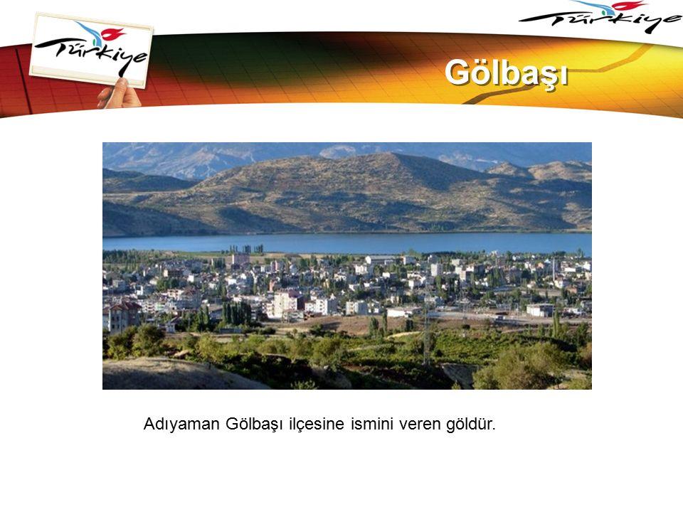 LOGO www.themegallery.com Gölbaşı Adıyaman Gölbaşı ilçesine ismini veren göldür.
