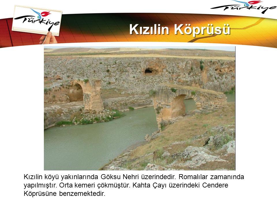 LOGO www.themegallery.com Kızılin Köprüsü Kızılin köyü yakınlarında Göksu Nehri üzerindedir. Romalılar zamanında yapılmıştır. Orta kemeri çökmüştür. K