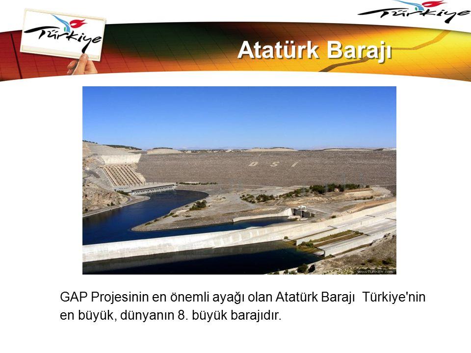 LOGO www.themegallery.com Atatürk Barajı GAP Projesinin en önemli ayağı olan Atatürk Barajı Türkiye'nin en büyük, dünyanın 8. büyük barajıdır.