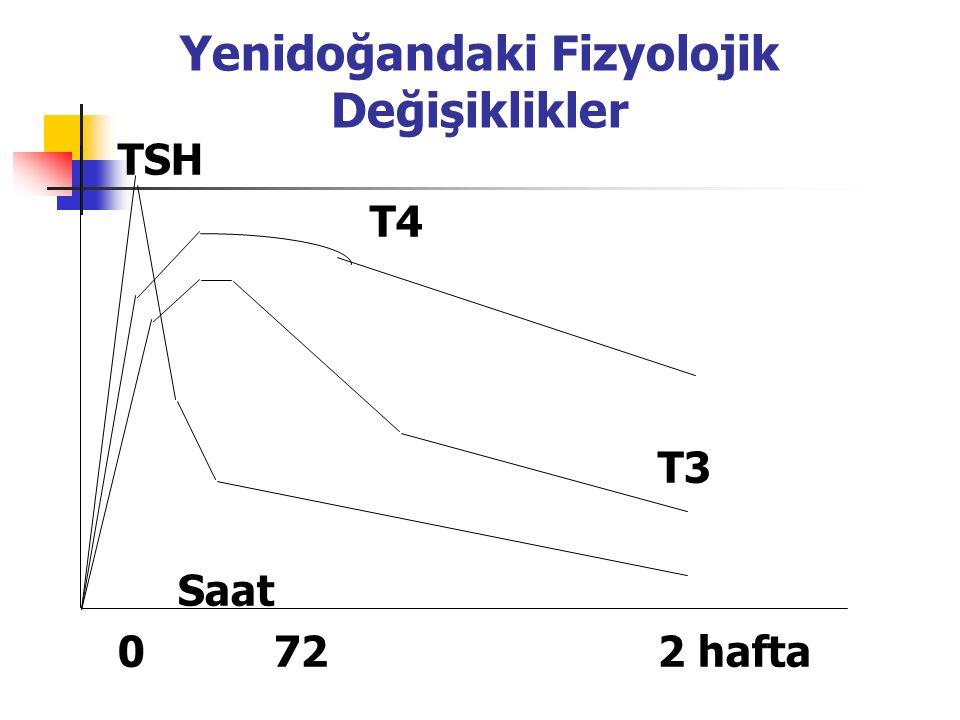 Yenidoğandaki Fizyolojik Değişiklikler TSH T4 T3 Saat 0722 hafta