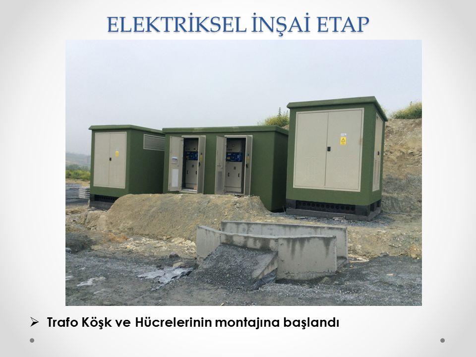 ELEKTRİKSEL İNŞAİ ETAP  Trafo Köşk ve Hücrelerinin montajına başlandı