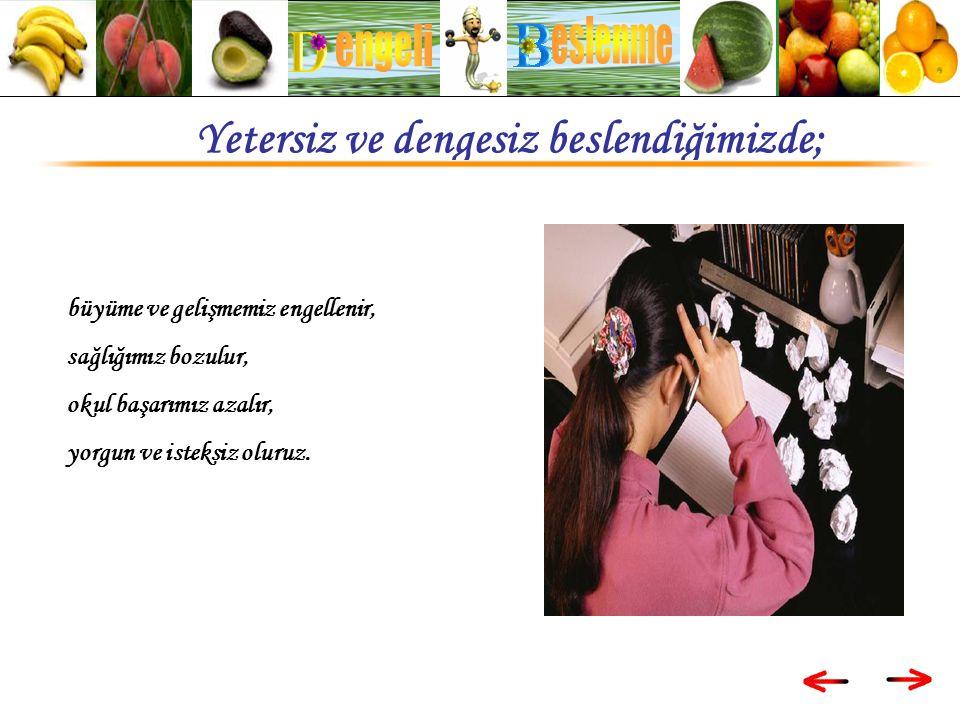 büyüme ve gelişmemiz engellenir, sağlığımız bozulur, okul başarımız azalır, yorgun ve isteksiz oluruz.