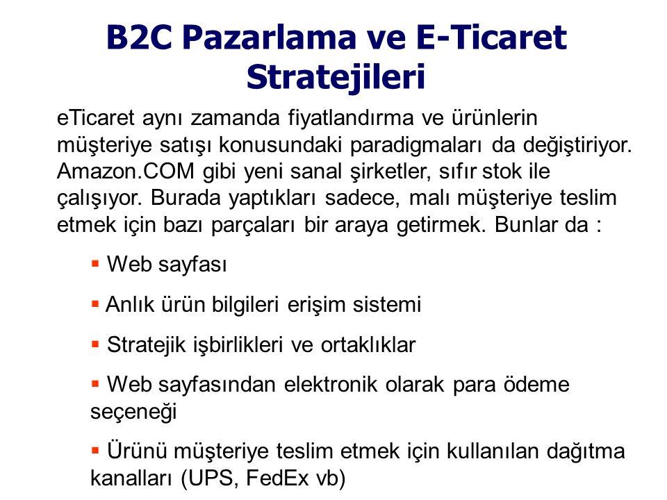 B2C Pazarlama ve E-Ticaret Stratejileri eTicaret aynı zamanda fiyatlandırma ve ürünlerin müşteriye satışı konusundaki paradigmaları da değiştiriyor. A