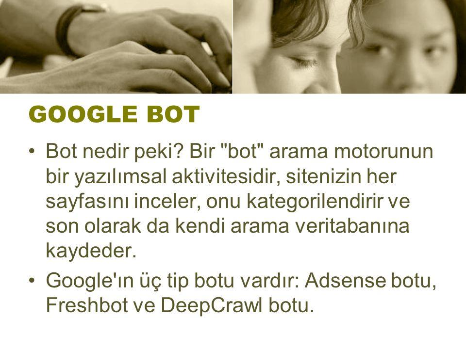 GOOGLE BOT Bot nedir peki.