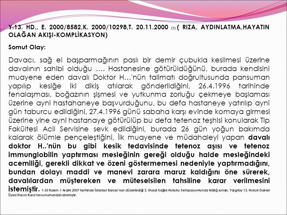 Y.13.HD., E. 2000/8582,K. 2000/10298,T.