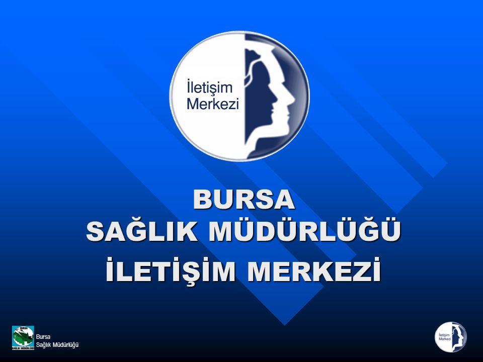 Bursa Sağlık MüdürlüğüBURSA SAĞLIK MÜDÜRLÜĞÜ İLETİŞİM MERKEZİ